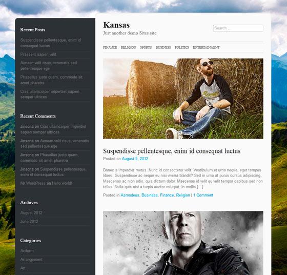 Kansas тема WordPress