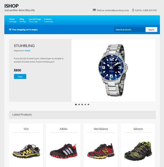 ishop тема WordPress