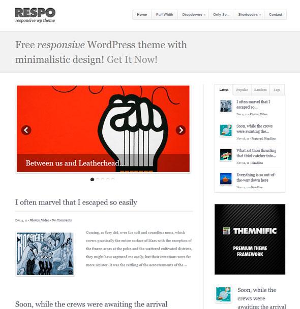 Respo Theme тема WordPress