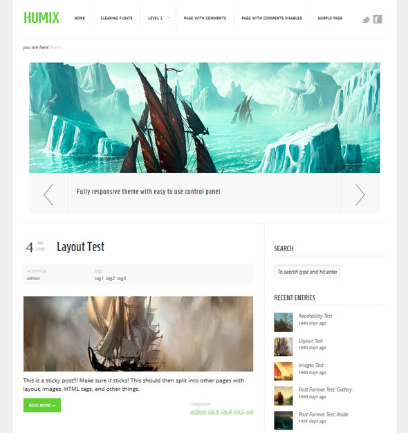 Humix тема WordPress