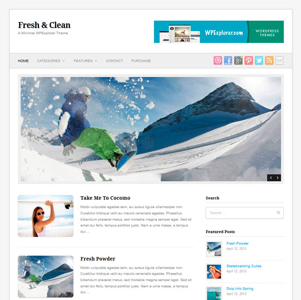 Fresh & Clean тема WordPress