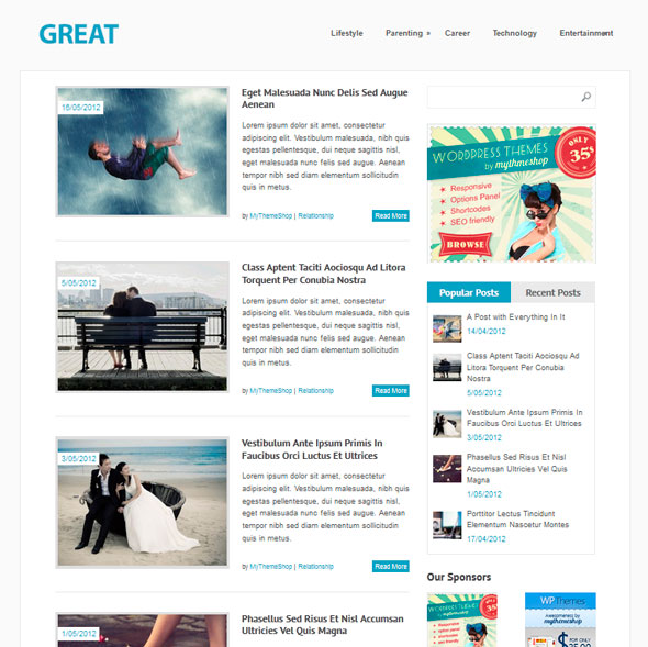 Great тема WordPress