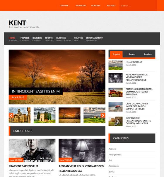 Kent тема WordPress