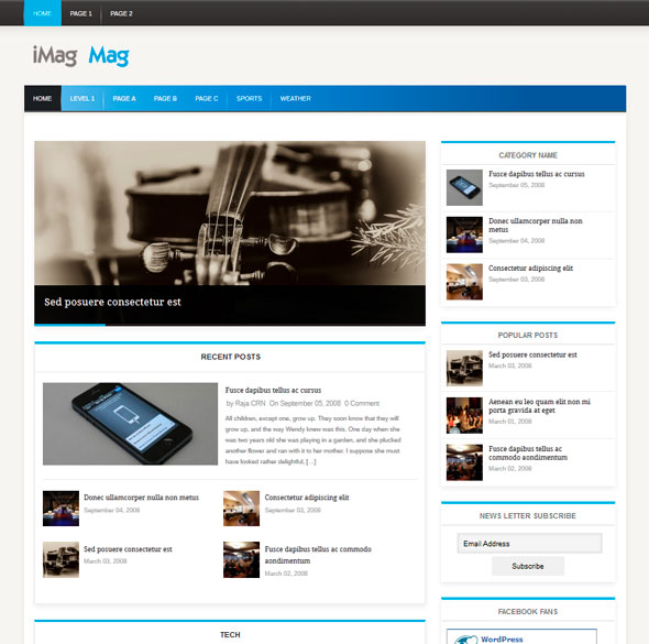 iMag Mag тема WordPress