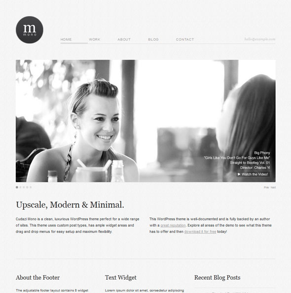 Cudazi Mono тема WordPress