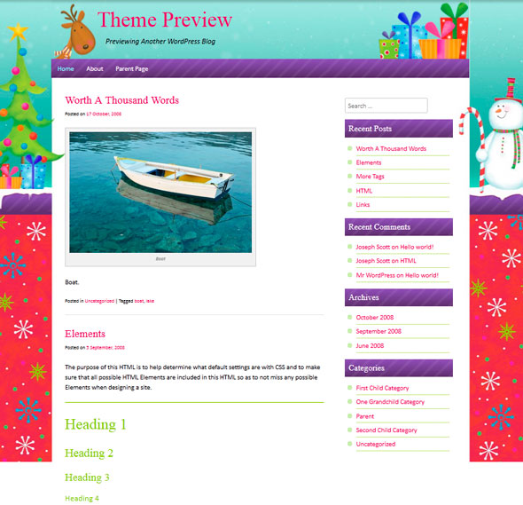 ChristmasPress тема WordPress