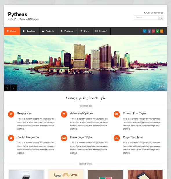 Pytheas тема WordPress