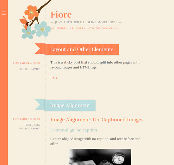 Fiore тема WordPress
