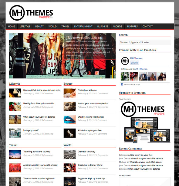 MH Magazine lite тема WordPress