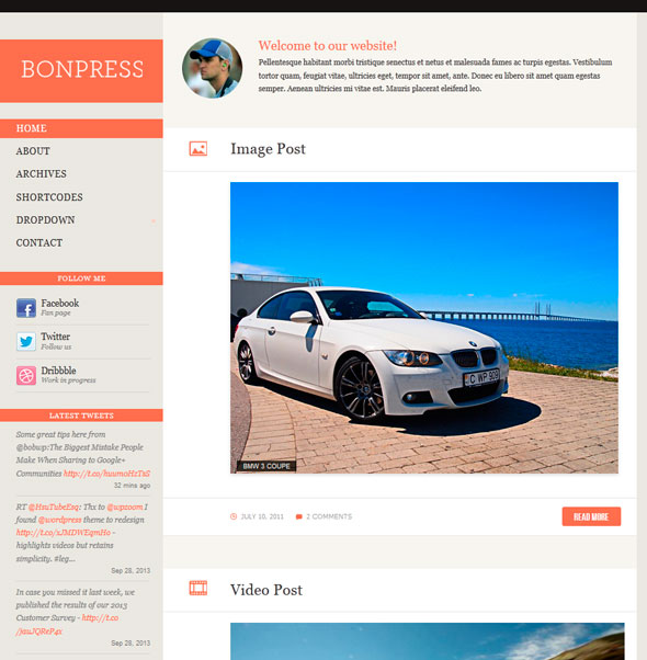 Bonpress тема WordPress