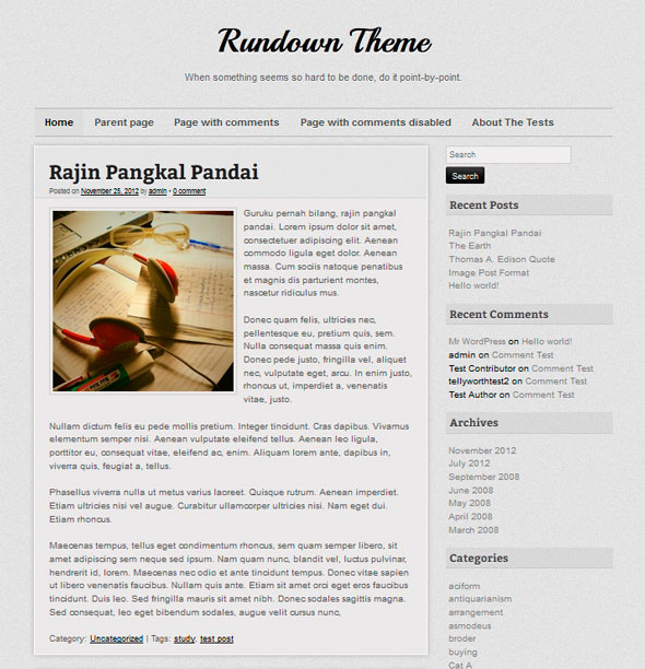 Rundown тема WordPress