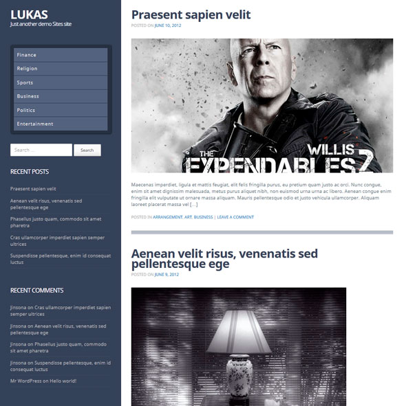 Lukas тема WordPress