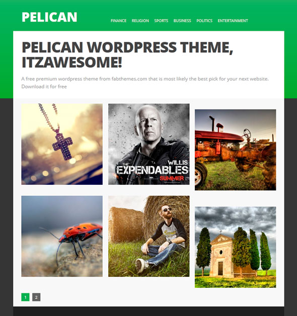 Pelican тема WordPress