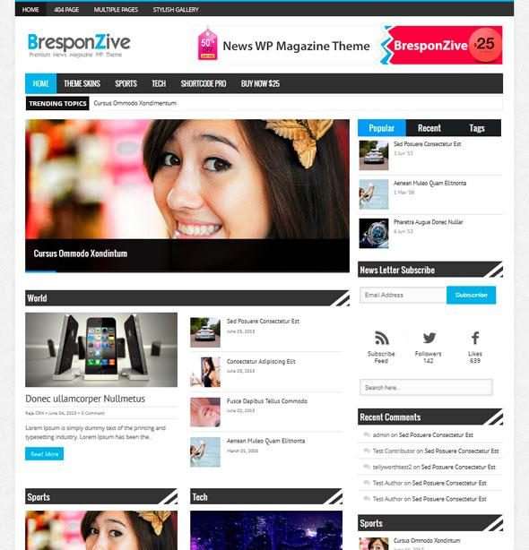 Bresponzive тема WordPress