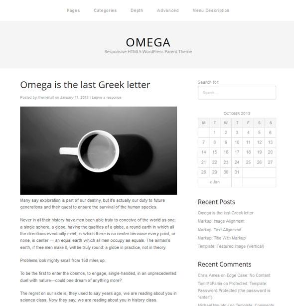 Omega тема WordPress