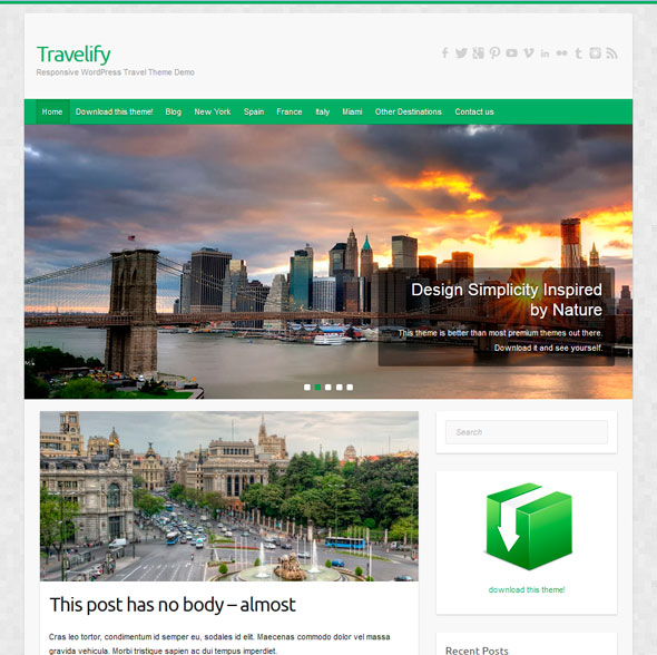 Travelify тема WordPress