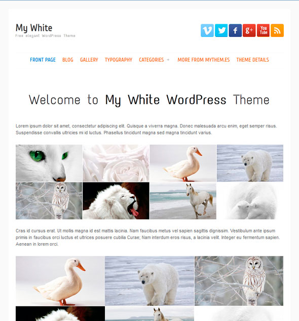 My white тема WordPress