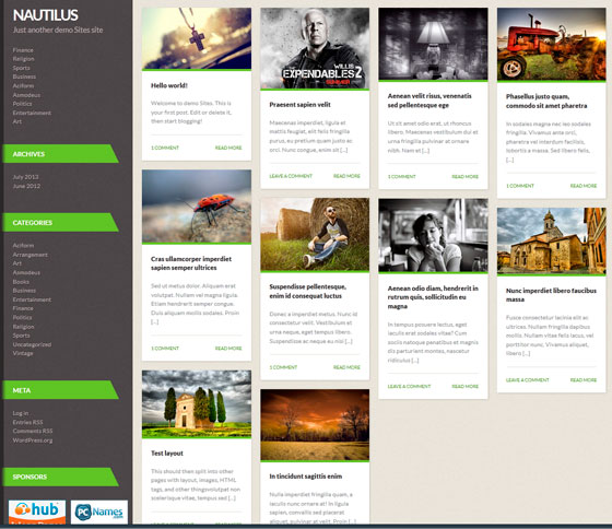Nautilus тема WordPress
