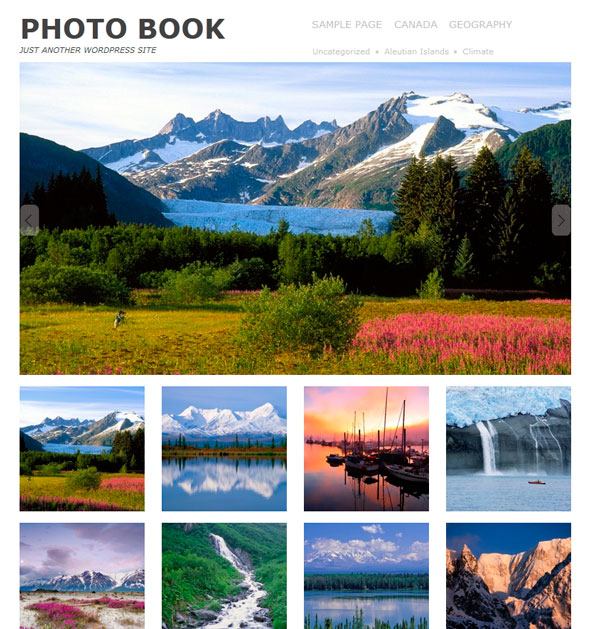 Photo book тема WordPress