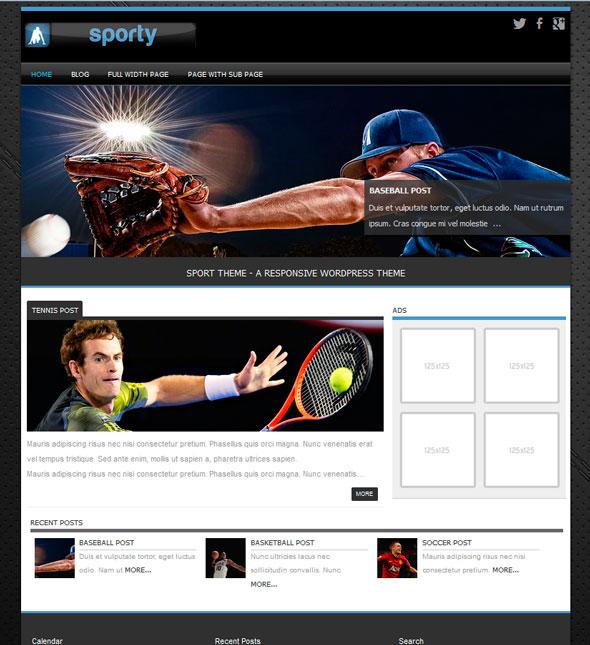 Sporty тема WordPress