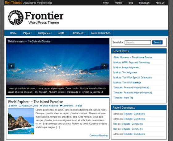 Frontier тема WordPress