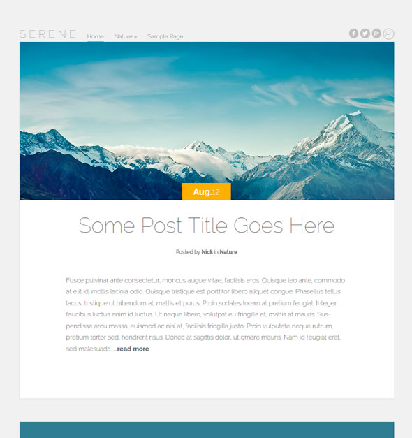 Serene тема WordPress