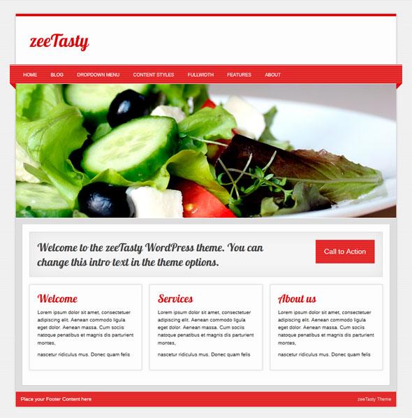 zeeTasty тема WordPress