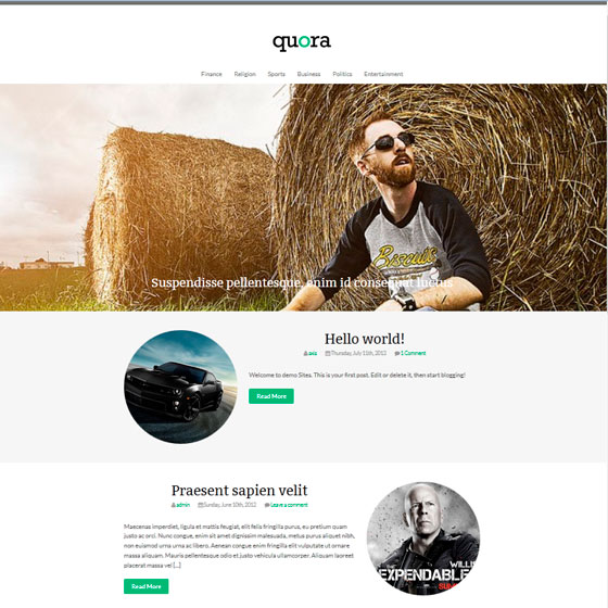 Quora тема WordPress
