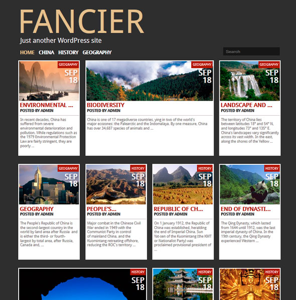 Fancier тема WordPress
