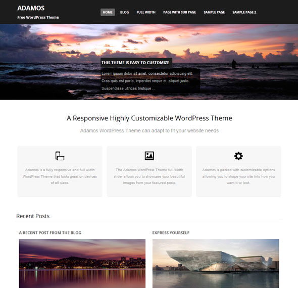 Adamos тема WordPress
