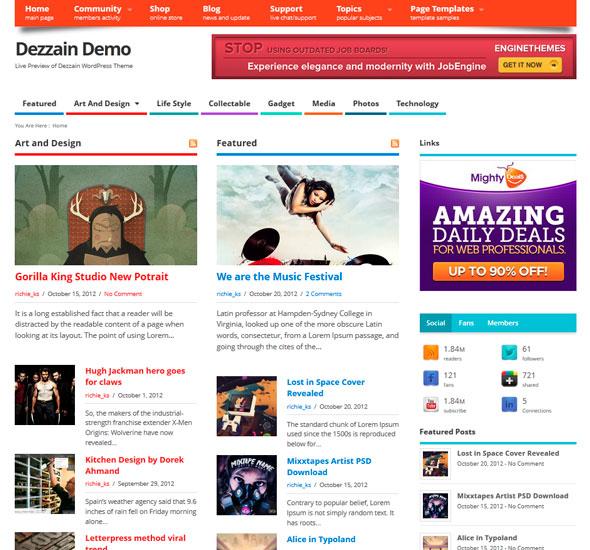 Mesocolumn тема WordPress