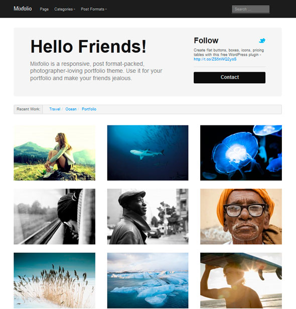Mixfolio тема WordPress
