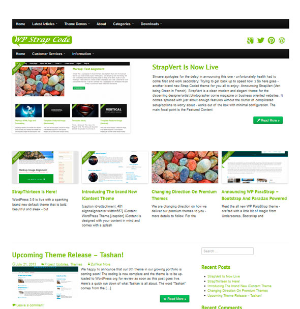StrapVert тема WordPress