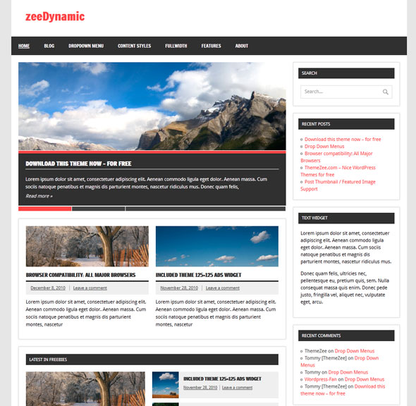 zeeDynamic тема WordPress