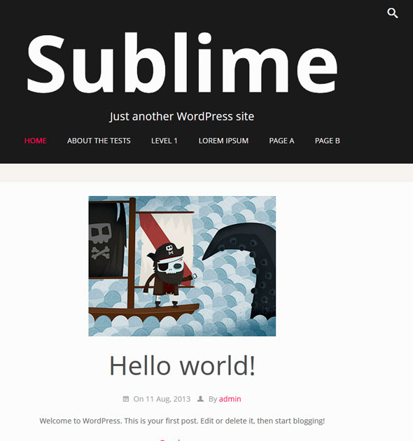 Sublime Press тема WordPress