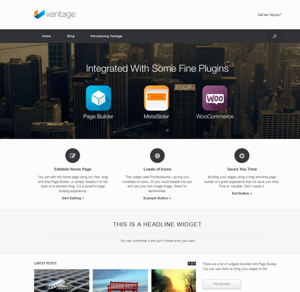 Vantage тема WordPress