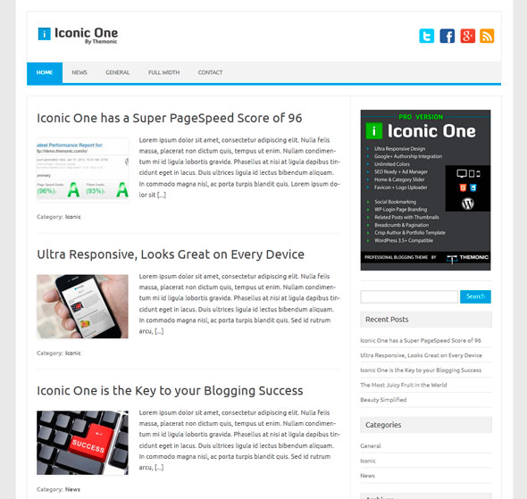 Iconic One тема WordPress