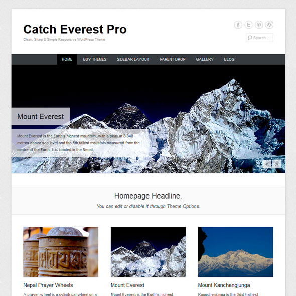 Catch Everest тема WordPress