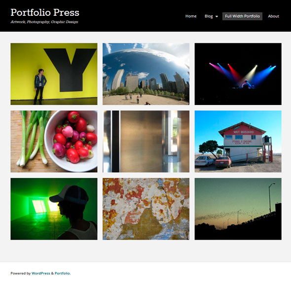 Portfolio Press тема WordPress