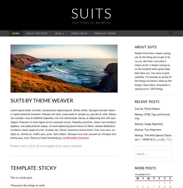 Suits тема WordPress