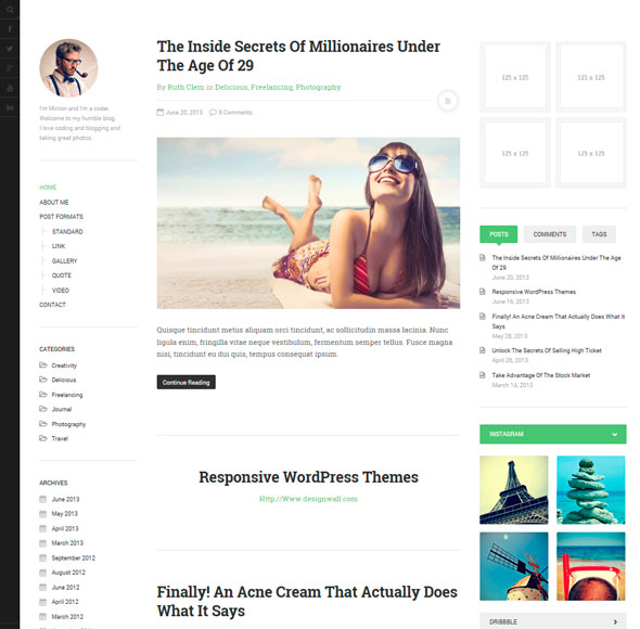 DW Minion тема WordPress