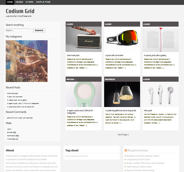 Codium Grid тема WordPress