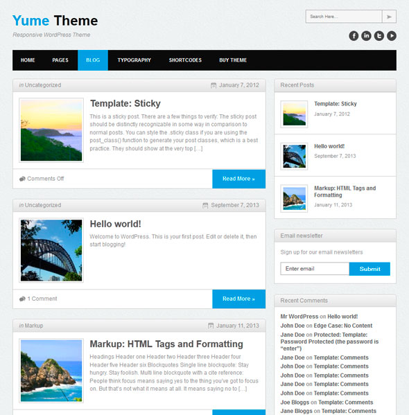 Yume Free тема WordPress