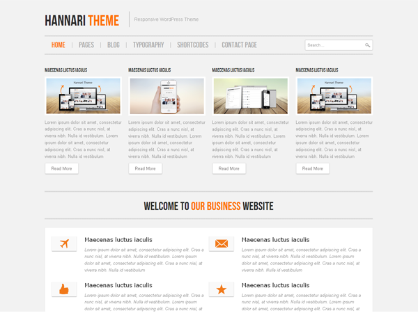 Hannari тема WordPress
