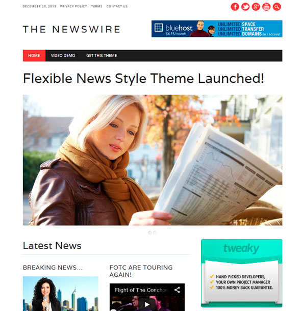 The Newswire тема WordPress