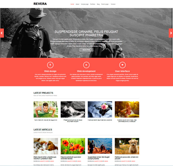 Revera тема WordPress