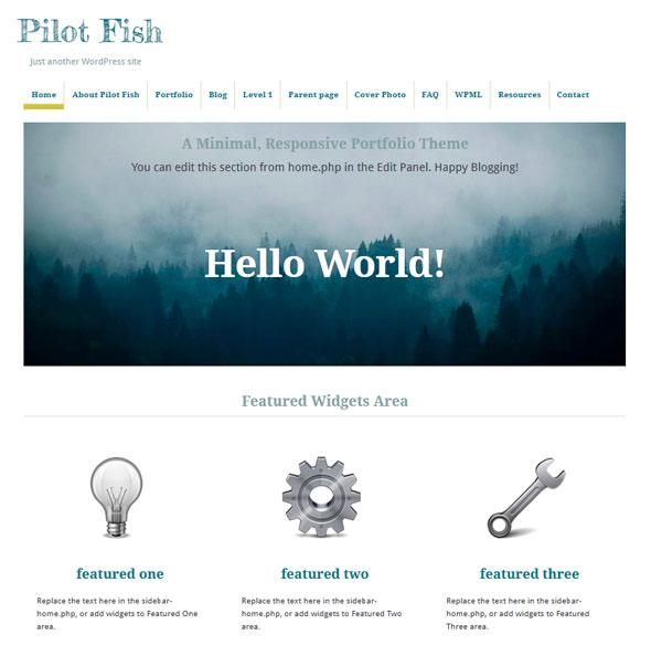 Pilot Fish тема WordPress