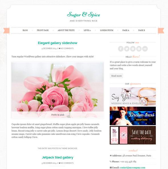 Sugar & Spice тема WordPress
