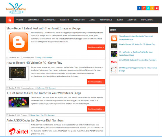 Magazine Style тема WordPress