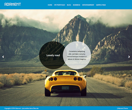 Adament тема WordPress